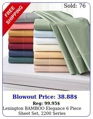 piece premium bamboo sheets w deep pockets ecofriendly  color
