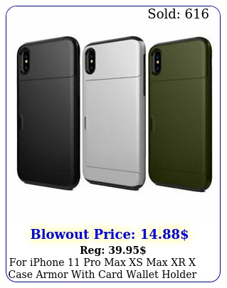 iphone pro max xs max xr x case armor with card wallet holder slot cove