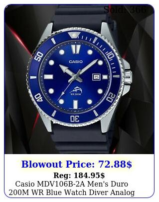 casio mdvba men's duro m wr blue watch diver analog sport