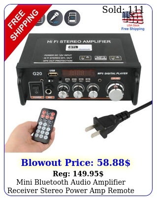 mini bluetooth audio amplifier receiver stereo power amp remote usb music playe