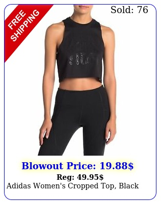 adidas women's cropped top blac