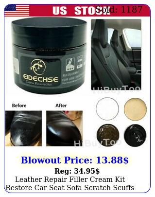 leather repair filler cream kit restore car seat sofa scratch scuffs holes m