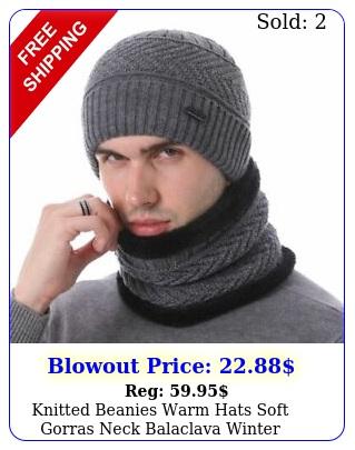 knitted beanies warm hats soft gorras neck balaclava winter skullies accessorie