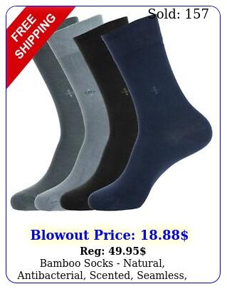 bamboo socks natural antibacterial scented seamless softcasualmenwome
