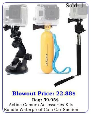 action camera accessories kits bundle waterproof cam car suction cup moun
