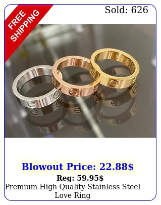 premium high quality stainless steel love rin