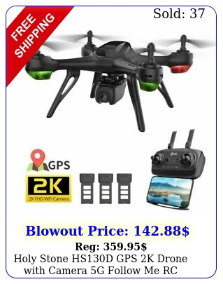 holy stone hsd gps k drone with camera g follow me rc quadcopter batter