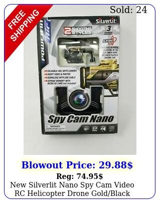 silverlit nano spy cam video rc helicopter drone goldblac