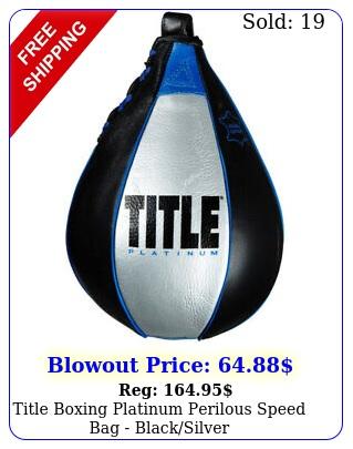 title boxing platinum perilous speed bag blacksilve