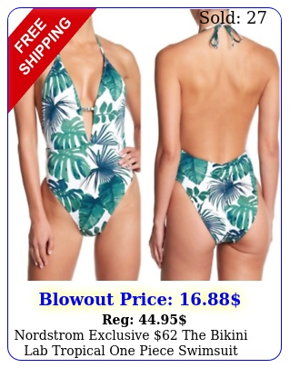 nordstrom exclusive the bikini lab tropical one piece swimsuit