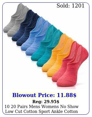 pairs mens womens no show low cut cotton sport ankle cotton boat sock