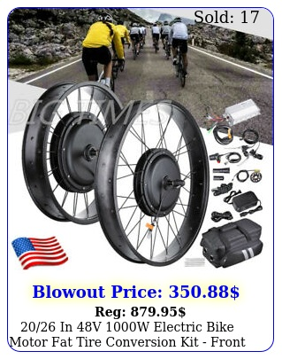 in v w electric bike motor fat tire conversion kit front whee