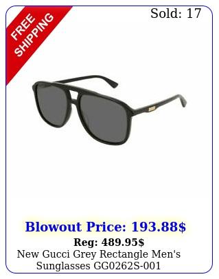 gucci grey rectangle men's sunglasses gg