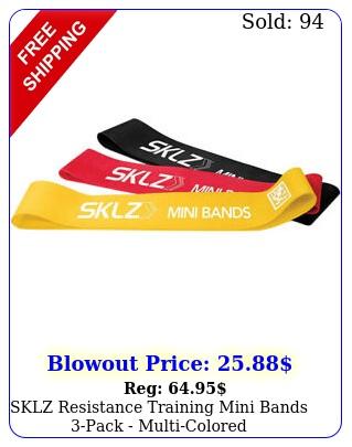 sklz resistance training mini bands pack multicolore