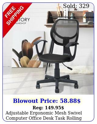 adjustable ergonomic mesh swivel computer office desk task rolling chair midbac