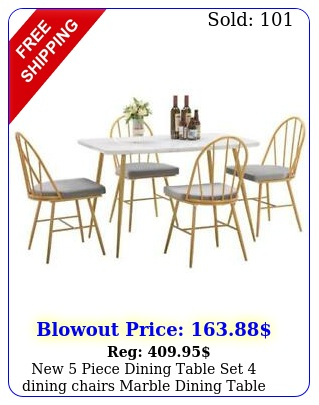 piece dining table set dining chairs marble dining table dinner kitche