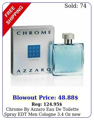 chrome by azzaro eau de toilette spray edt men cologne oz i