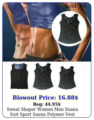 sweat shaper women men suana suit sport sauna polymer vest weight loss tank to