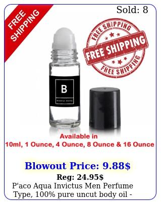 p'aco aqua invictus men perfume type pure uncut body oil choose size