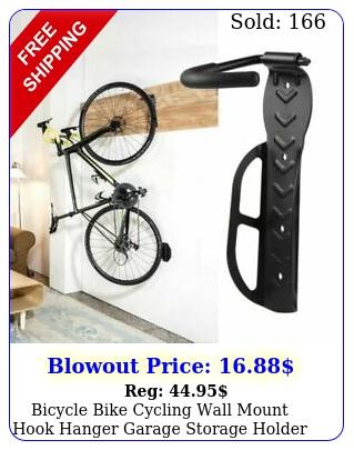 bicycle bike cycling wall mount hook hanger garage storage holder rack stand u