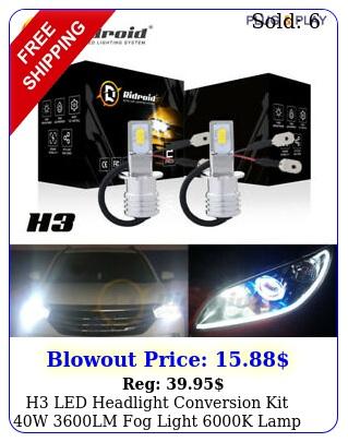 h led headlight conversion kit w lm fog light k lamp bulb xenon whit