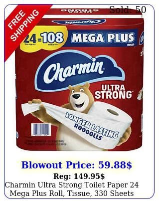 charmin ultra strong toilet paper mega plus roll tissue sheet