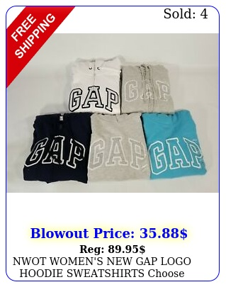 nwot women's gap logo hoodie sweatshirts choose from pullover or zi