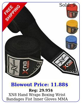 xn hand wraps boxing wrist bandages fist inner gloves mma maxican muay tha