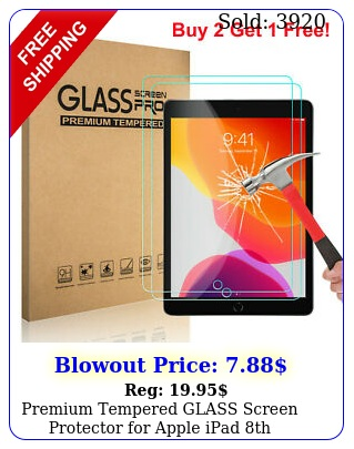 premium tempered glass screen protector apple ipad th generation