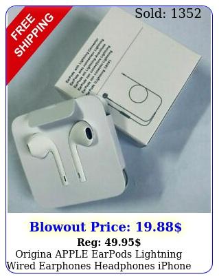 origina apple earpods lightning wired earphones headphones iphone  x xr