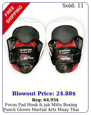 focus pad hook jab mitts boxing punch gloves martial arts muay thai trainin