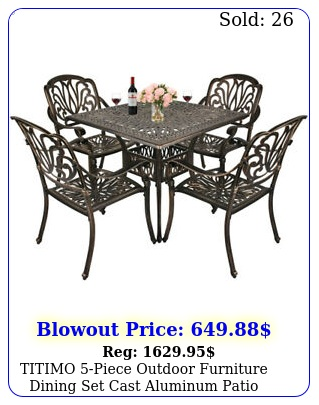 titimo piece outdoor furniture dining set cast aluminum patio bistro se