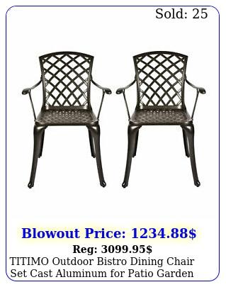 titimo outdoor bistro dining chair set cast aluminum patio garden set o