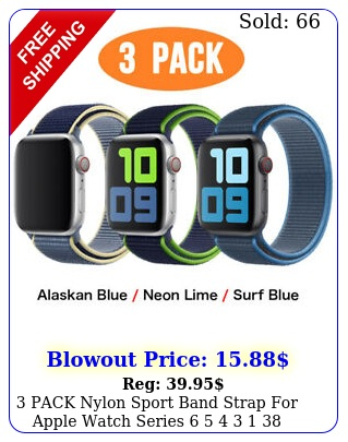 pack nylon sport band strap apple watch series    mm iwatch s