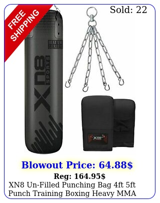 xn unfilled punching bag ft ft punch training boxing heavy mma with chai