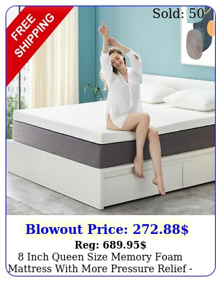 inch queen size memory foam mattress with more pressure relief bed in a bo