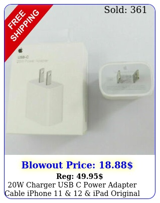 w charger usb c power adapter cable iphone   ipad original genuine oe