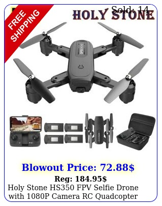holy stone hs fpv selfie drone with p camera rc quadcopter tap fly cas