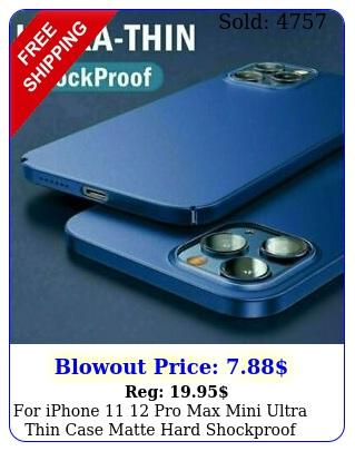 iphone  pro max mini ultra thin case matte hard shockproof slim cove