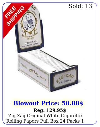 zig zag original white cigarette rolling papers full packs ful