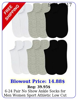 pair no show ankle socks men women sport athletic low cut multi pack