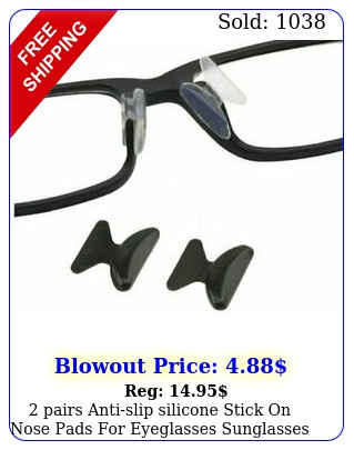 pairs antislip silicone stick on nose pads eyeglasses sunglasses glasse