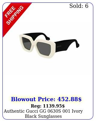 authentic gucci gg s ivory black sunglasse