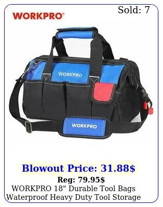 workpro durable tool bags waterproof heavy duty tool storage case with bas