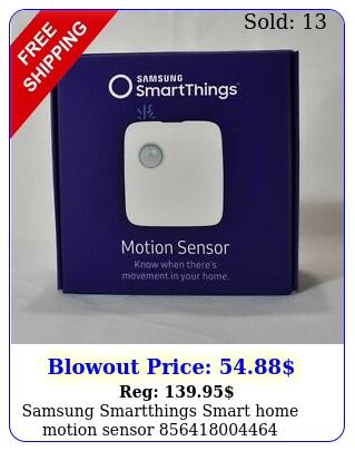 samsung smartthings smart home motion senso