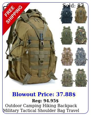 outdoor camping hiking backpack military tactical shoulder bag travel rucksac