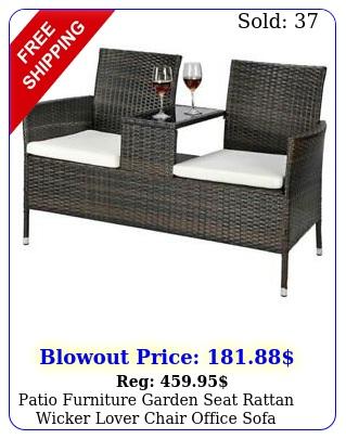 patio furniture garden seat rattan wicker lover chair office sofa wcoffee tabl