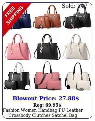 fashion women handbag pu leather crossbody clutches satchel bag purse top handl