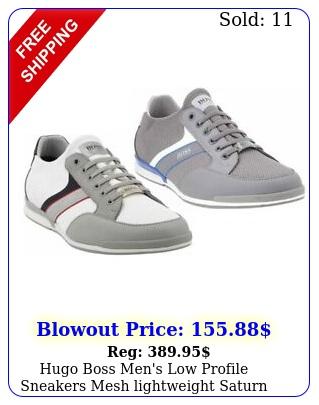 hugo boss men's low profile sneakers mesh lightweight saturn slon merb