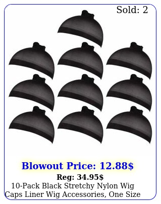 pack black stretchy nylon wig caps liner wig accessories one size fits mos